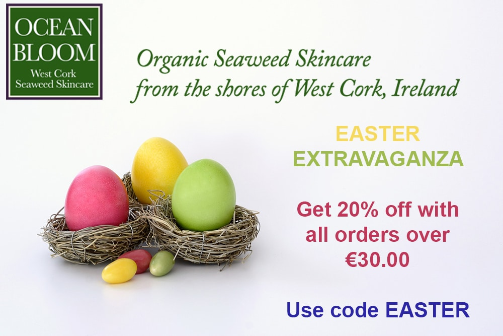 Natural Organic Ocean Bloom Seaweed Skincare made in Ireland Easter Extravaganza
