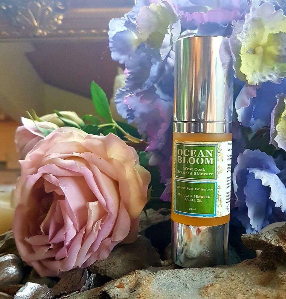 Ocean Bloom Organic Natural Marula & seaweed Facial Oil made in Ireland